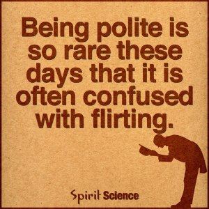 Being polite